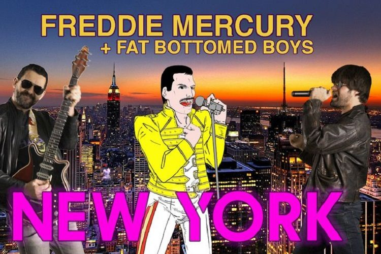 Fat Bottomed Boys & Freddie Mercury New york