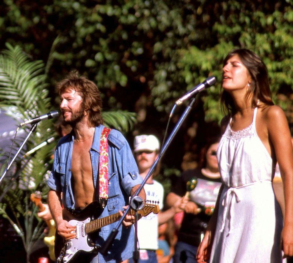 Eric Clapton et Marcy Levy en 1975